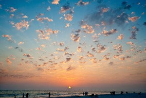 Siesta Key Beach at Sunset