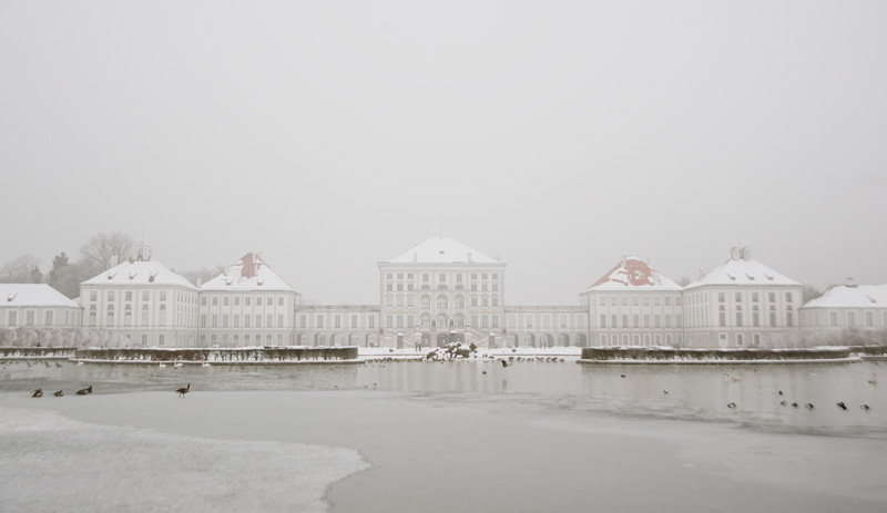 Nymphenburg Schloss in Winter